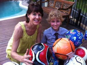 Angela & Mac with Balls