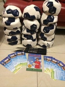Eddie Springer Soccer balls for Solomon Islands