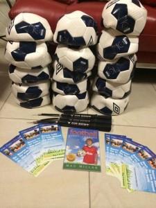Eddie Springer Soccer balls for Solomon Islands