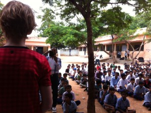 Addressing a school