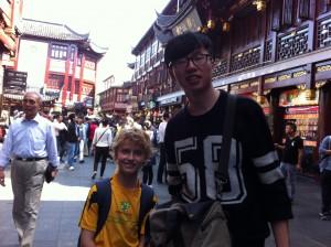York showing me around Shanghai