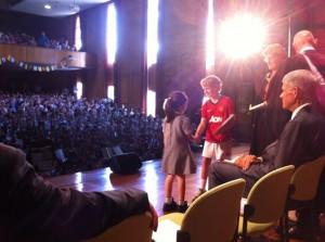 Mac presenting Speech Day awards at Abbotsleigh School in Sydney