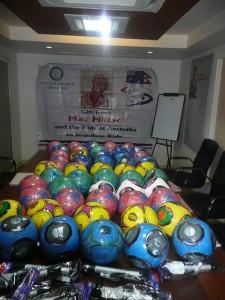 Soccer balls for Nepal