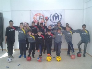Soccer balls for the kids of  Syria