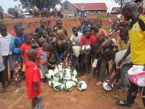 Soccer balls for the kids of Uganda