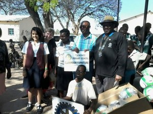 Zimbabwe delivery of soccer balls with the help of Rotary Club of Bulawayo South