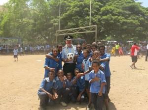 AFP take soccer balls to kids in PNG
