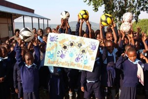 Soccer balls for School for Life in Uganda