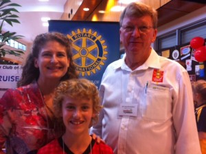Rotary District Conference - Mac and District Governor Craig Edmonston