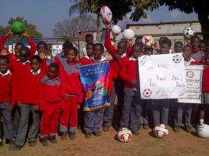 Soccer balls for Chipinge Zimbabwe