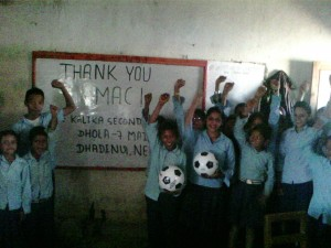 Soccer balls for Nepal
