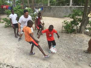 Soccer balls for the kids of Haiti.